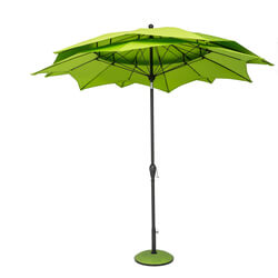 Small Image of Norfolk Leisure 2.7m Round Lotus Garden Parasol - Lime