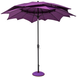 Extra image of Norfolk Leisure 2.7m Round Lotus Garden Parasol - Fuchsia