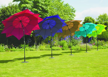 Image of Norfolk Leisure 2.7m Round Lotus Garden Parasol - Aqua