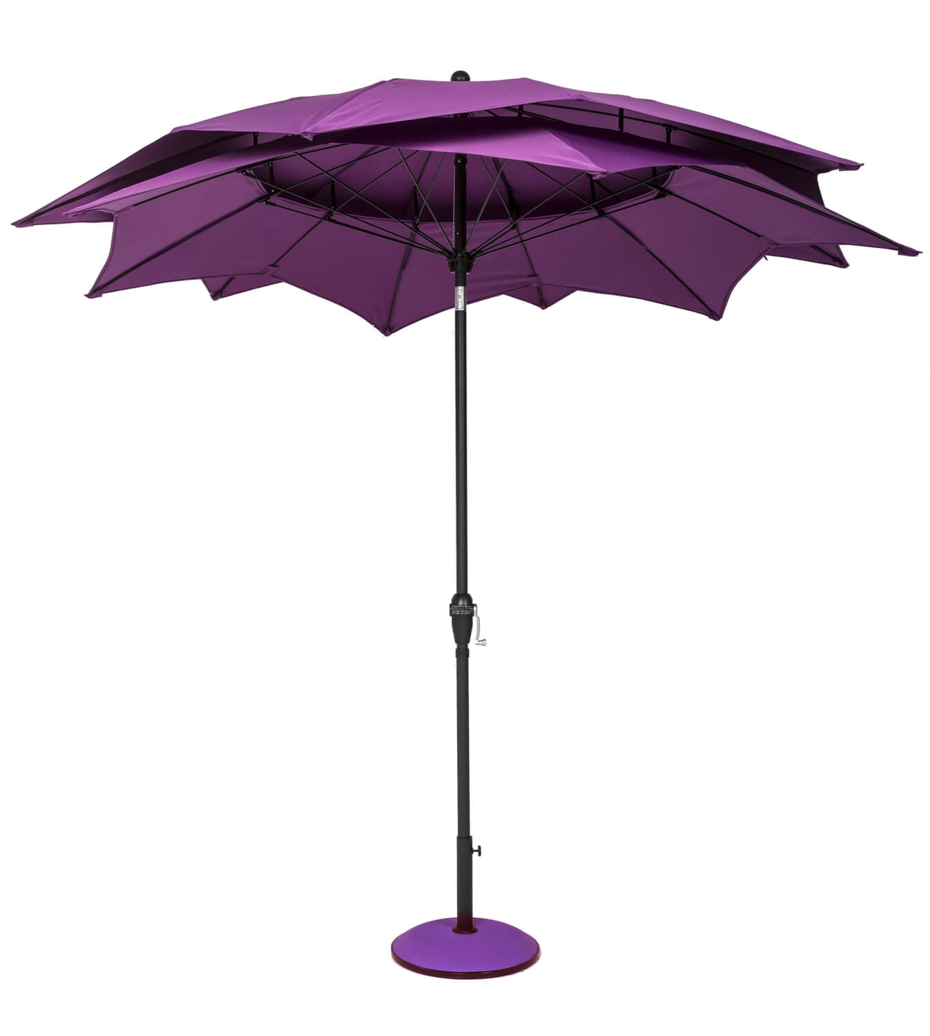 Norfolk Leisure 2 7m Round Lotus Garden Parasol Purple