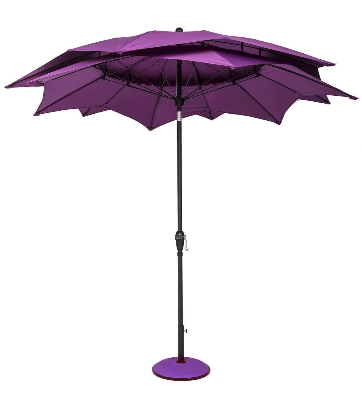 norfolk leisure 2 7m lotus garden parasol aqua 163 74 99 garden4less uk shop
