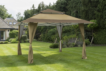 Image of Got it Covered Pop Up Gazebo - Taupe/Brown