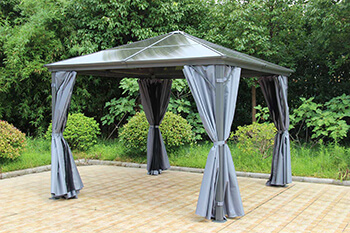 Image of Runcton 3.0 x 3.6m Rectangular Polycarbonate Gazebo - Anthracite