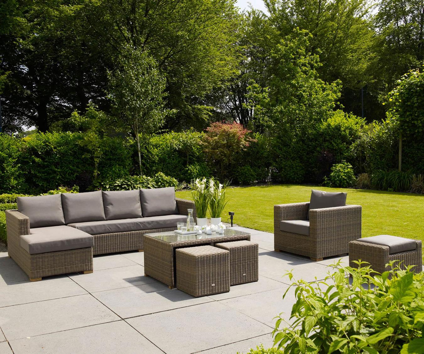 Moray Garden Chaise Lounge Sofa Furniture Set 163 2500