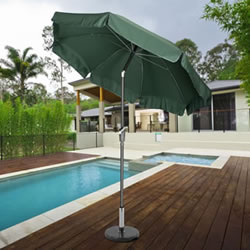 Small Image of Norfolk 2.7m Garden Parasol with Valance and Tilt - Green