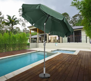 Image of Norfolk 2.7m Garden Parasol with Valance and Tilt - Green