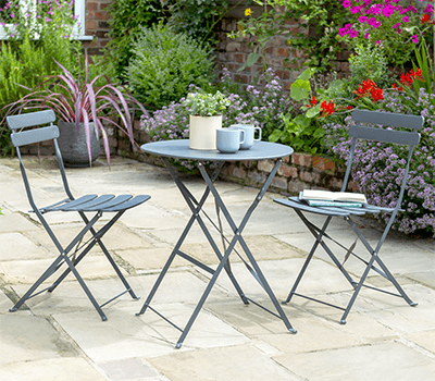 Image of Norfolk Leisure Comfort Bistro Set in Anthracite