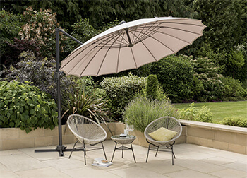 Image of Norfolk Leisure Geisha Cantilever Parasol - Taupe