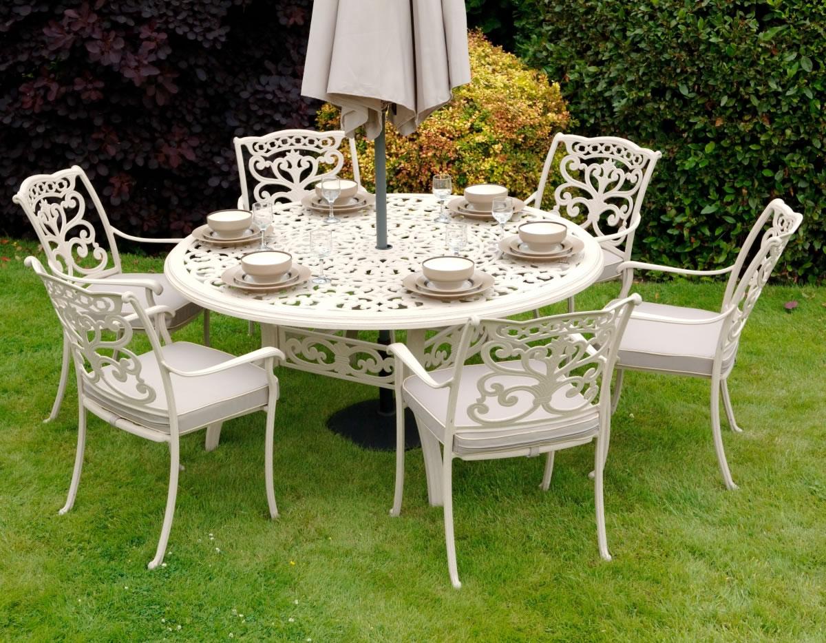 ornamental 6 seater round garden furniture set by idle rose 75904 garden4less uk shop - Garden Furniture 6 Seater Round