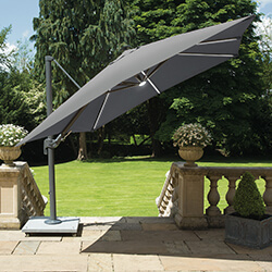 Small Image of LIFE Palermo 3.0m Square LED Cantilever Parasol - Carbon/Lava