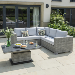 Enjoyable Life Aya Square Corner Garden Furniture Set In Yacht Mouse Grey Interior Design Ideas Gentotryabchikinfo