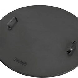 Extra image of Cook King 80cm Fire Bowl Lid with Rings