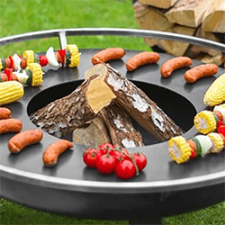 Extra image of Cook King 82cm Grill Plate with Grate for Firebowls