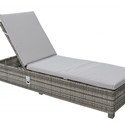 Extra image of LIFE Aya Weave Lounger With Cushion in Yacht Grey / Mouse Grey