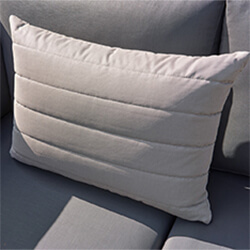 Small Image of Life Deco Cushion, 65 x 45cm, in Mouse Grey with Lines