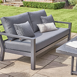 Extra image of LIFE Timber Aluminium Lounge Sofa Set with Adjustable Table in Lava/Carbon