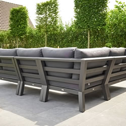 Extra image of LIFE Timber Aluminium Corner Sofa Set in Lava / Carbon