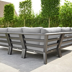 Extra image of LIFE Timber Aluminium Corner Sofa Set in Lava / Mouse Grey