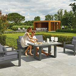 Small Image of LIFE Timber Aluminium Lounge Set in Lava / Carbon