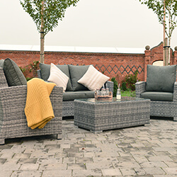 Small Image of Manhattan Comfort Lounge Set in Grey
