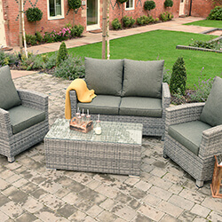 Extra image of Manhattan Comfort Lounge Set in Grey