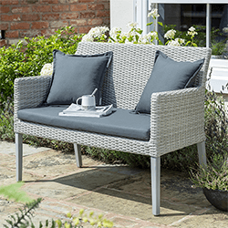 Small Image of Norfolk Leisure Chedworth 2 Seater Bench in Grey