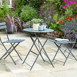 Small Image of Norfolk Leisure Comfort Bistro Set in Anthracite