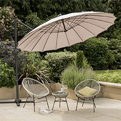 Small Image of Norfolk Leisure Geisha Cantilever Parasol - Taupe
