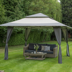 Small Image of Got it Covered Pop Up Gazebo - Grey