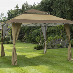 Small Image of Got it Covered Pop Up Gazebo - Taupe/Brown