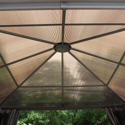 Extra image of Runcton 3.0 x 3.0m Square Polycarbonate Gazebo - Anthracite
