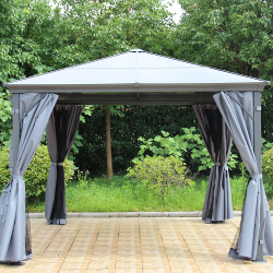 Small Image of Runcton 3.0 x 3.0m Square Polycarbonate Gazebo - Anthracite