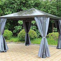 Small Image of Runcton 3.0 x 3.6m Rectangular Polycarbonate Gazebo - Anthracite
