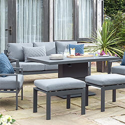 Small Image of Norfolk Leisure Titchwell Lounge Set with Gas Adjustable Table in Anthracite