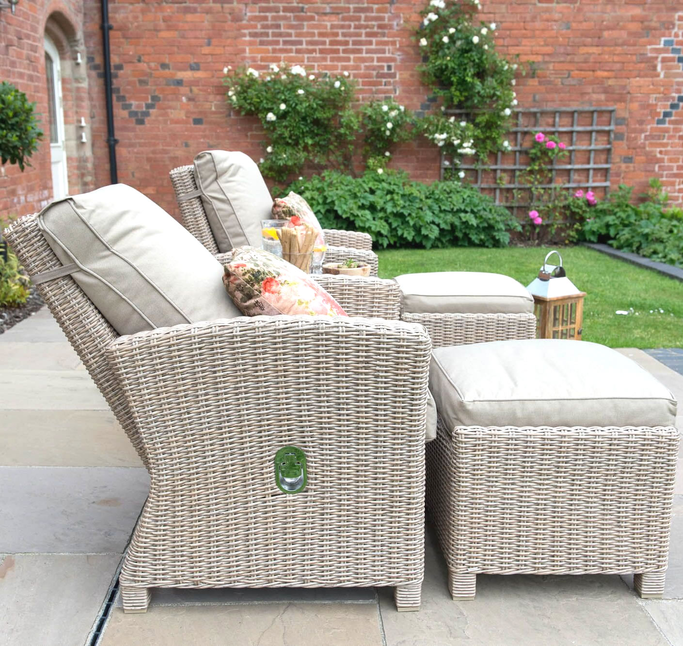Extra image of Serenity 2 Seater Recliner Chair Furniture Set - Natural
