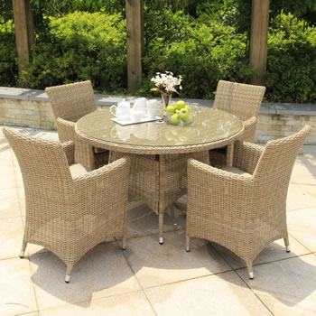Image of Serenity Four Seater Weave Outdoor Dining Set