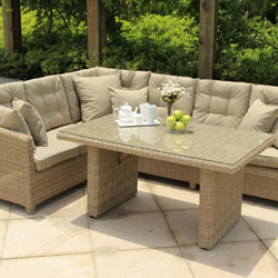 Image of Serenity Lounge Corner Sofa Casual Dining Set