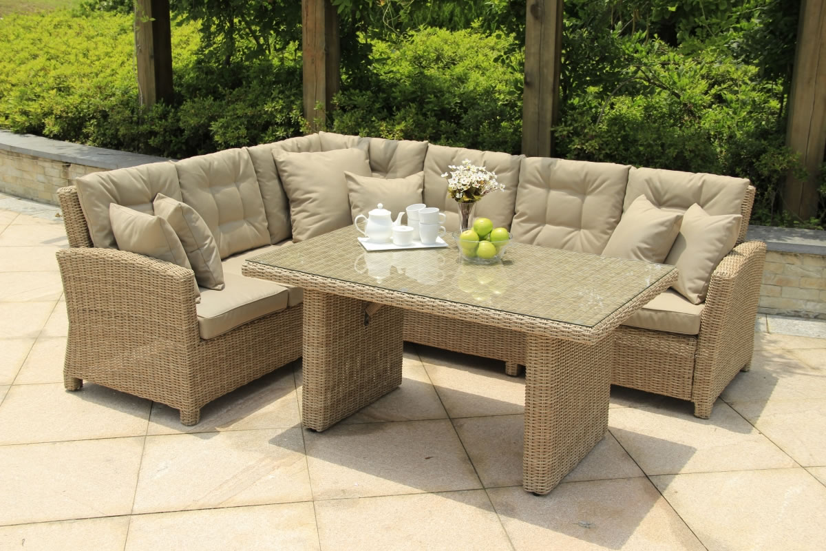 Serenity lounge corner sofa casual dining set 990 for Patio lounge sets