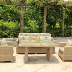Image of Serenity Lounge Sofa Casual Dining Set