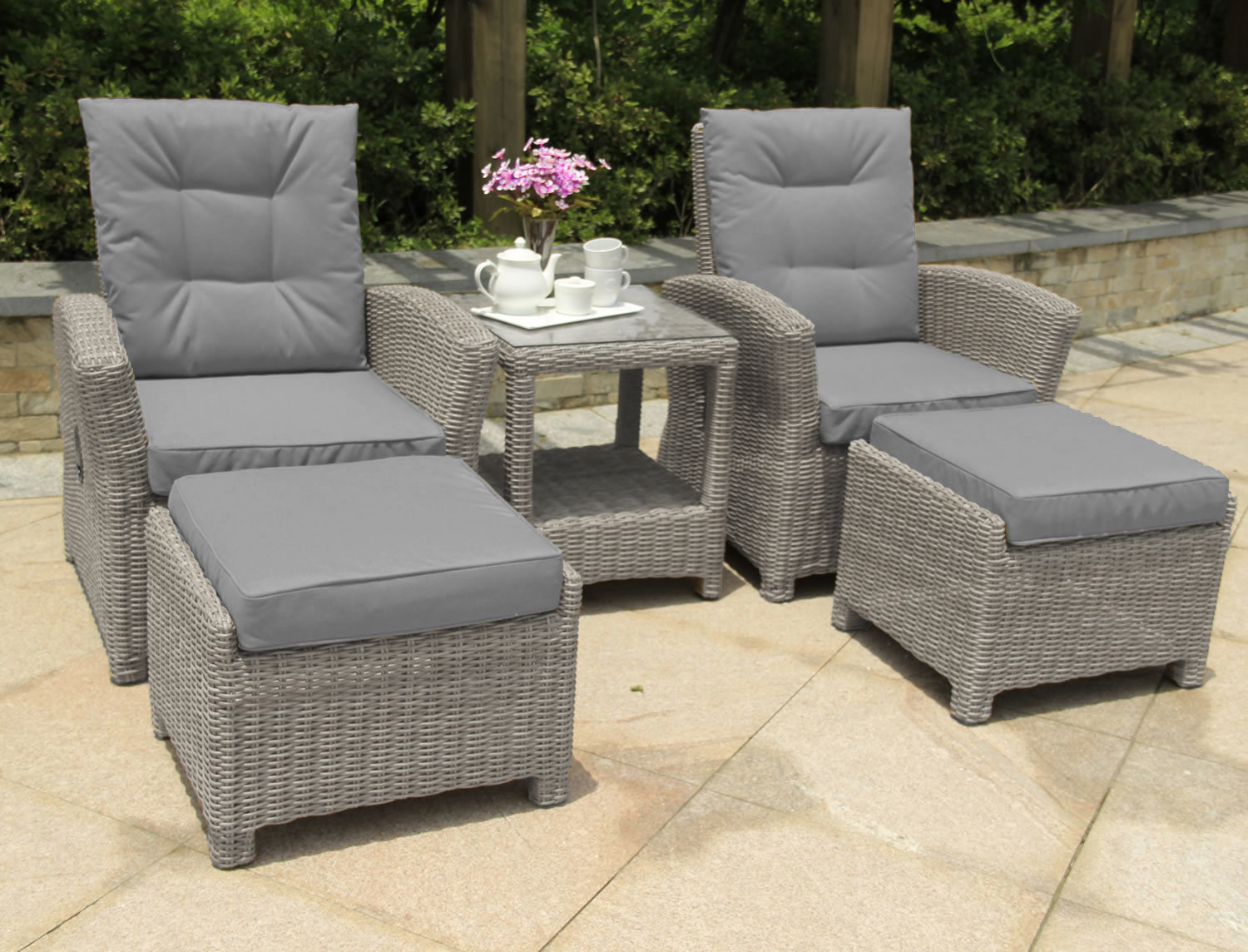 Serenity 2 Seater Recliner Chair Furniture Set Pepper