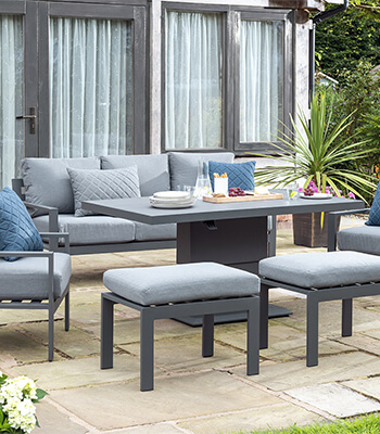 Image of Norfolk Leisure Titchwell Lounge Set with Gas Adjustable Table in Anthracite