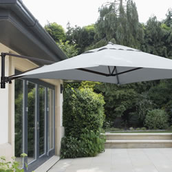Small Image of Wall Mounted 2.0m Square Cantilever Garden Parasol - Grey