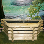Small Image of Softwood 25 Gallon Flat Back Pool with Fountain