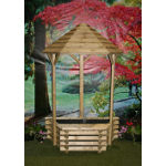Small Image of Softwood Flat Back Wishing Well Fountain