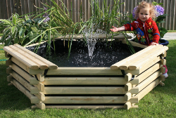 Image of Softwood 100 Gallon Pool with Fountain