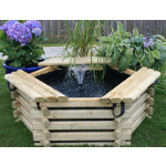 Small Image of Softwood 50 Gallon Pool with Fountain