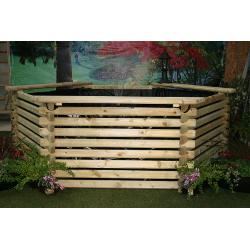 Small Image of Softwood 600 Gallon Koi Pool with Sump