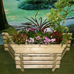 Small Image of Flat Back Planter with Seat