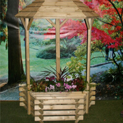 Small Image of Flat Back Wishing Well Planter