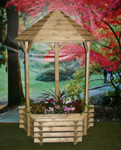 Image of Flat Back Wishing Well Planter